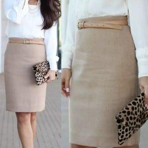 J. Crew The Pencil Skirt Wool Blend Women's Size 8